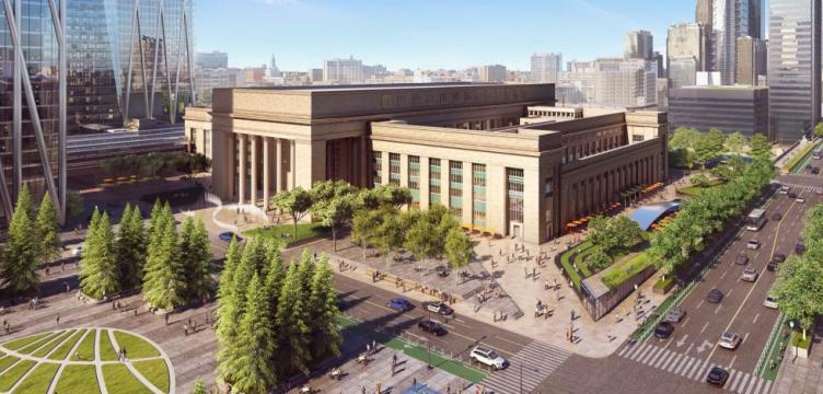 30th Street Station Plaza rendering. Credit: Amtrak