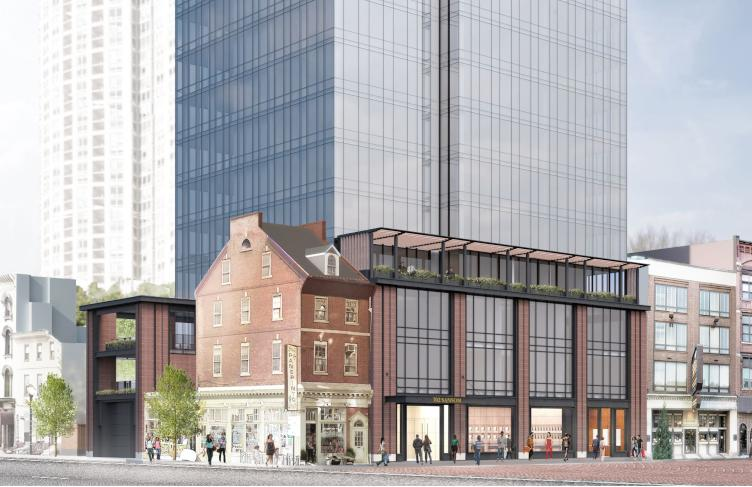 702 Sansom rendering of Toll Bros. project, from 7th and Sansom | January 2018