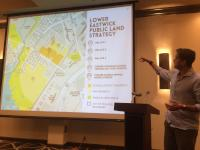 Interface Studio's Scott Page presenting the feasibility study.