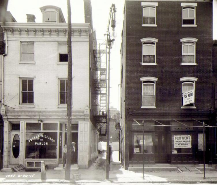A historic photo depicting the 700 block of Race Street in 1915. Credit: PhillyHistory.org