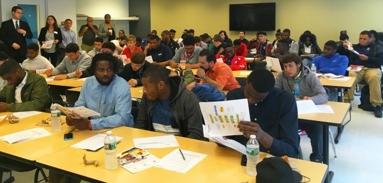 A May 2017 kickoff event for PennAssist, which consists of a younger group of 44 participants.