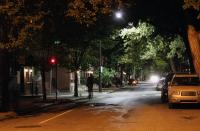 A Philadelphia night cast in LED and traditional streetlamps