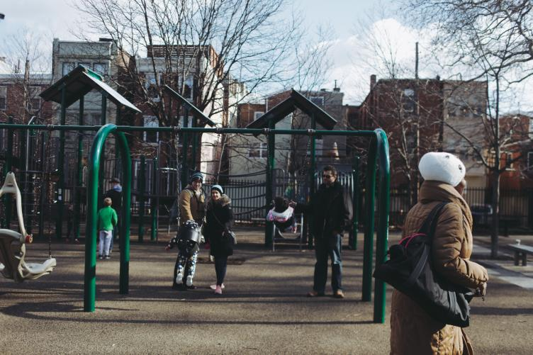 A planned playground renovation brought Bethel Burying Ground back into public awareness. (Neal Santos for PlanPhilly)
