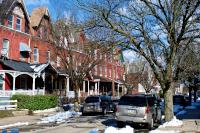 A residential block in Strawberry Mansion, one of the neighborhoods where assessed home values increased the most in 2018. (Bas Slabbers/WHYY)