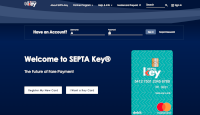 A screenshot of the beta version homepage of SEPTA's new Key website. (PlanPhilly.)