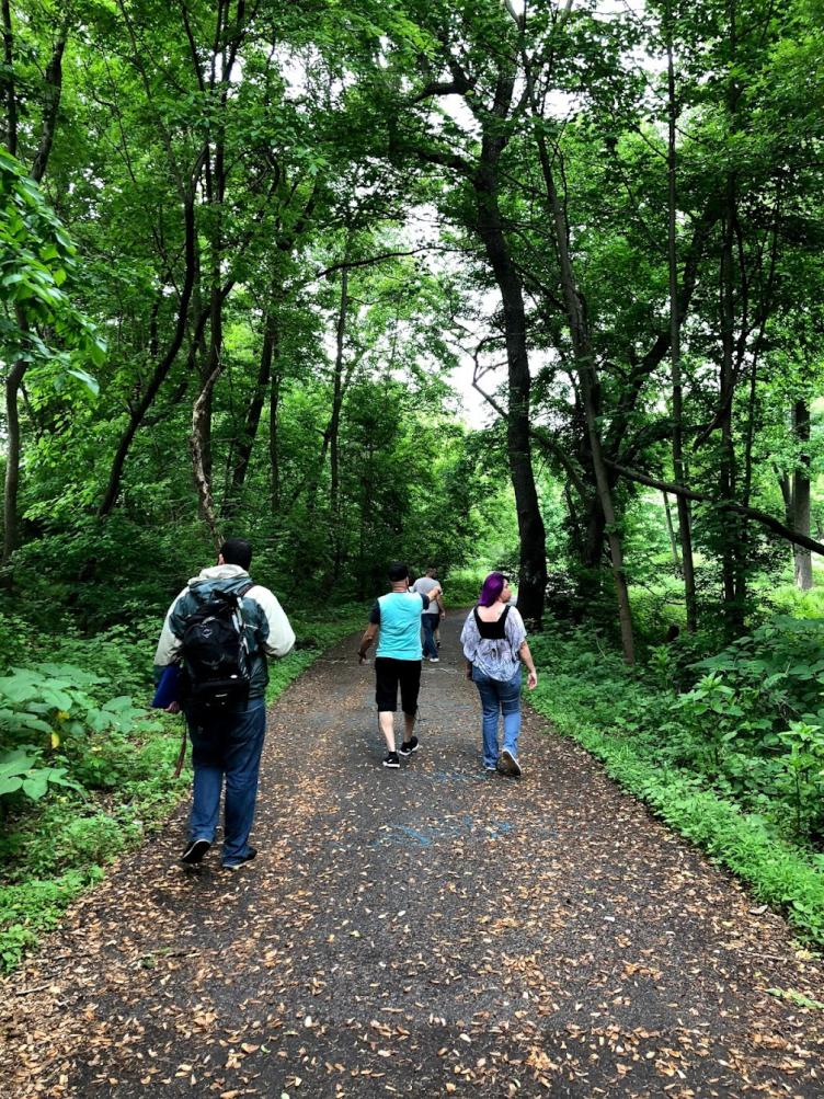 A walk in the park, led by the Tacony Creek Park Keepers. Credit: Diana Lu/WHYY