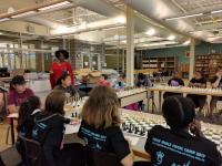 Adia Onyango, a New York-based chess instructor and professional player, visited the 2017 Girls Chess Camp. |ASAP/After School Activities Partnerships