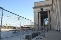 Amtrak's construction outside 30th Street Station's west entrance will finish around Thanksgiving