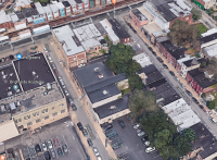 An aerial view of the 1800 block of East Hilton Street, where a supervised injection site has been proposed.
