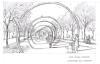 An artist's rendering of a concept for the multi-use path that would incorporate the area's history as a rope-making hub