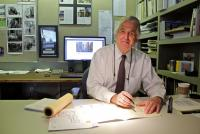 Architect Cecil Baker in his office | Emma Lee / WHYY