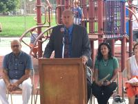 City Councilman Mark Squilla, at Monday's Rebuild announcement. | Malcolm Burnley