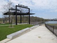 Bartram's Mile: The plaza is where 56th Street meets the river. | Ashley Hahn / PlanPhilly