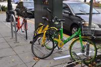 Bikes from three different dockless bike providers share a seattle street photo credit joe mabel original