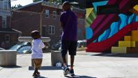 Brothers at Wister Playground | Kimberly Paynter / WHYY