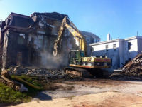 Bunting House demo on Ridge Avenue.