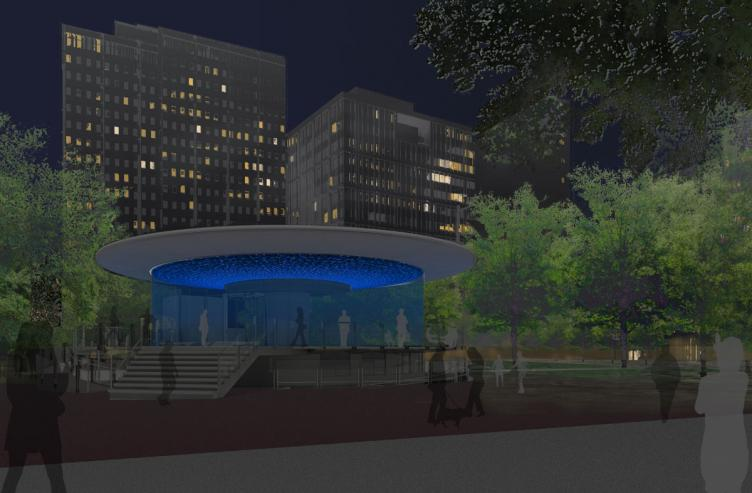 By night, Haddad|Drugan's artwork will shift based on colored lighting | courtesy of City of Philadelphia
