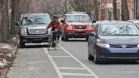 Cars regularly stop in Philadelphia's bike lanes that aren't