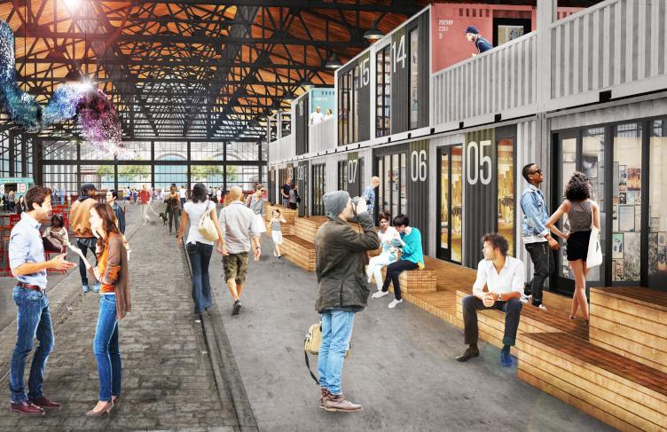 Cherry Street Pier garage rendering. (Groundswell Design Group)