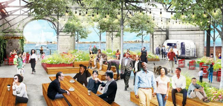 Cherry Street Pier garden rendering. (Groundswell Design Group)