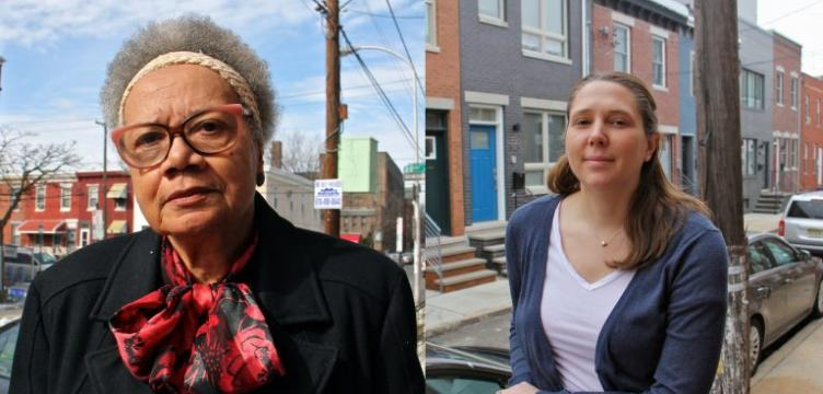 Claudia Sherrod (left) and Haley Dervinis (right) both live in Point Breeze.