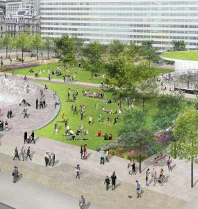 Concept rendering of LOVE Park, April 2015 | Hargreaves Associates