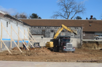Construction has begun on the new Planet Fitness gym in Roxborough. (Megan Pinto)