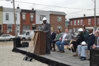 Councilman Kenyatta Johnson joined project leaders at the ground breaking ceremony