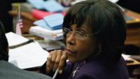 Councilwoman Blondell Reynolds Brown is shown in City Council chambers. (Nathaniel Hamilton for WHYY, file)