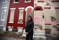 councilwoman maria q sanchez stands in front of 2432 n 4th street a blighted tax delinquent property in her district march 1 2013 david swanson inquirer staff photographer 752 502 s