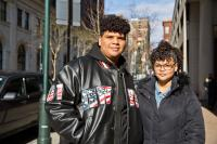 Crisjoel Morales Monet, 17, and Judy Morales Monet, 16, are staying at the Holiday Inn Express in Center City with their mom and oldest brother Friday April 20th.