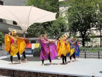Cultural dance performance during Asian American Pacific Islander Heritage Celebration at Mifflin Square Park. Credit: Keith Mui