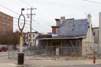 Current street view of the former Pure Oil Service Station on Lancaster and 44th. (photo by author)