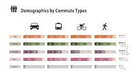 Demographics by Commute Types