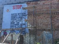 Developer Steven Brown, who said his intention was to preserve the mural, said the building was on the verge of collapse.