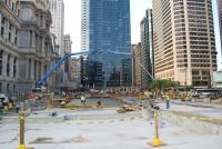 Dilworth Plaza should be completed in the fall of 2014. Photo courtesy of Center City District
