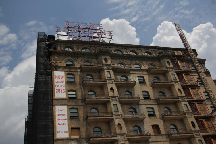 The Divine Lorraine Hotel was renovated in 2015 and equipped with rental units (Emma Lee/WHYY)
