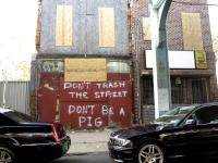 Don't trash the street. Don't be a pig. | Ashley Hahn / PlanPhilly