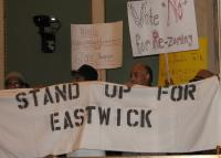 Eastwick residents protest at city council