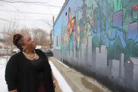 Erica Tunnell educates her neighborhoods about environmental threats. Credit: Emma Lee/WHYY