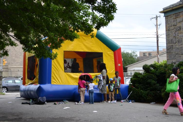 Festivities included a bounce house, dance performances and more