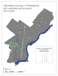 Figure 1: Spatial distribution of threatened affordable units, Philadelphia