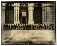 First bicyclist meet in front of Memorial Hall, Fairmount Park | Historical Society of Pennsylvania, Penrose Pictoral Philadelphia collection