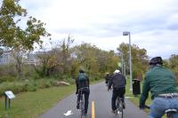 Grays Ferry Crescent, now the southern most portion of the Schuylkill River Trail will soon lead into Bartram's Mile