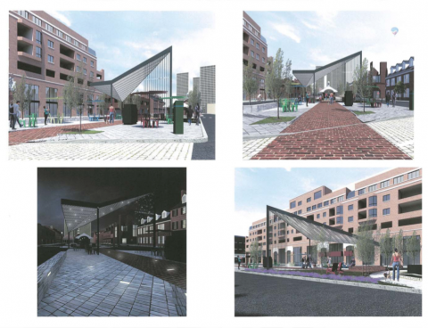 Headhouse Plaza design, April 2017 Art Commisison presentation