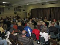 Residents from all over the Northeast attended the Burholme community meeting to learn about the Northeast's history. Photo by Christopher Wink.
