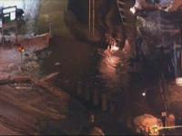 The early morning scene of a watermain break off Holme Avenue at Willits Road. Photo Courtesy of CBS3.