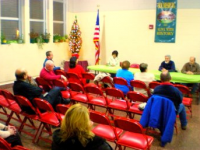Holmesburg Civic Association's December meeting. Photo by Christopher Wink for NEast Philly.