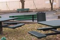 Mayfair Memorial Playground -- on Lincoln High School's property -- remains unused for now.