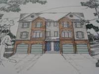 Mock-ups for the proposed duplexes at 2976-80 Welsh Rd.